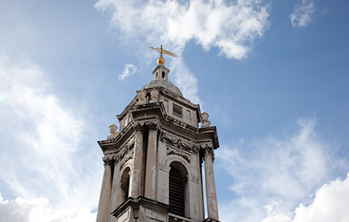 The bell-tower at St George's Hanover Square - Church exterior