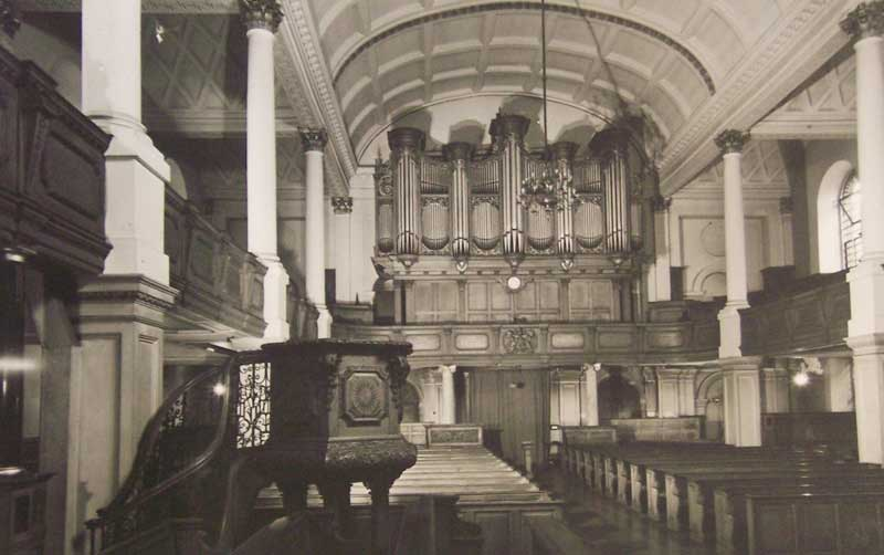Donated money helped St George's Hanover Square church get a new organ 1
