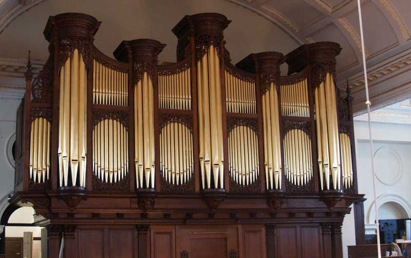 Donated money helped St George's Hanover Square church get a new organ 4